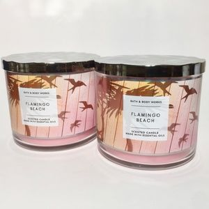 FLAMINGO BEACH 3 Wick Scented Candles
